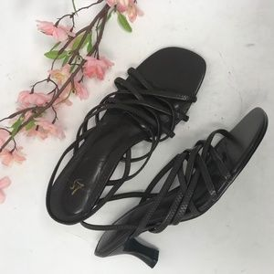 Vintage Brown 'Leather' Strappy Sandals 8.5